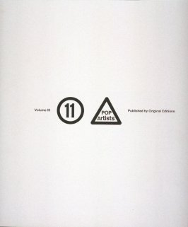 Sheet with title page, table of contents, introduction by Max Kozloff, and numbered colophon from the portfolio Eleven Pop Artists, Vol. III