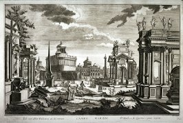 Campo Marzio, after a 1740 engraving by Andrea Pfeffel after Giuseppe Galli Bibiena, from the series Architetture e prospettive