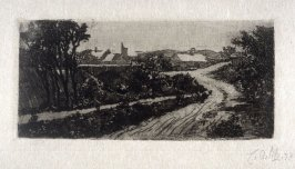 Weg vorm Dorf, from Pan vol. III, as Landschaft (Landscape)