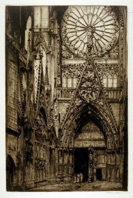 Rouen Cathedral/Courtyard of Library