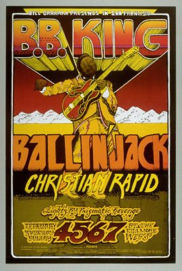 B.B. King, Ballin' Jack,  Christian Rapid, February 4 - 7, Fillmore West