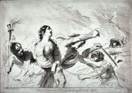 Four Soldiers Fighting over a Female Prisoner