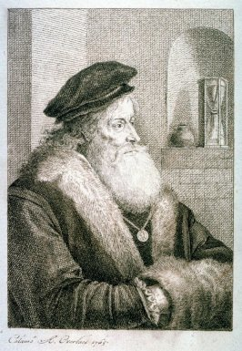 Old man with beard, fur trimmed coat and cap