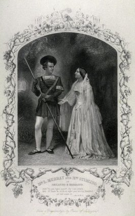 Mr. L. Murray and Mrs. Stirling as Orlando and Rosalind in As You Like It.