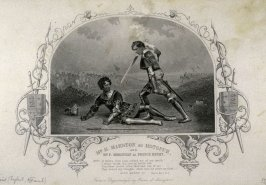 Mr. H. Marston as Hotspur and Mr.F. Robinson as Prince Henry in King Henry IV.