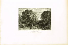 """O fortunate old man..."",first illustration for Eclogue 1, opposite page 18 in the book An English Version of the Eclogues of Virgil by Samuel Palmer (London: Seeley & Company, 1883)"