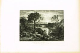 """""""O fortunate old man..."""", second illustration for Eclogue 1, opposite page 20 in the book An English Version of the Eclogues of Virgil by Samuel Palmer (London: Seeley & Company, 1883)"""
