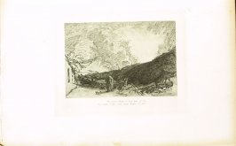 """""""Tis gentle Phillis I love best of all..."""", illustration for Eclogue 3, opposite page 40 in the book An English Version of the Eclogues of Virgil by Samuel Palmer (London: Seeley & Company, 1883)"""