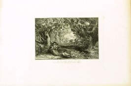 """Thy very cradle quickens..."", illustration for Eclogue 4, opposite page 48 in the book An English Version of the Eclogues of Virgil by Samuel Palmer (London: Seeley & Company, 1883)"