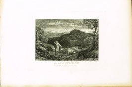 """Come fairest, if thou care for me at all..,"" illustration for Eclogue 7, opposite page 70 in the book An English Version of the Eclogues of Virgil by Samuel Palmer (London: Seeley & Company, 1883)"