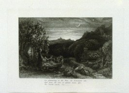 """Ripe apples are our supper..."", third illustration for Eclogue 1, opposite page 22 in the book An English Version of the Eclogues of Virgil by Samuel Palmer (London: Seeley & Company, 1883)"