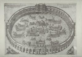 Mythical illustration of an ancient naval battle