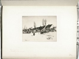 A Winter's Day, Windsor, N. S., plate at p. 29 in the book, Representative Etchings by Artists of To-day in America (New York: Frederick A. Stokes, 1887)