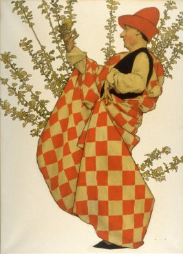 Man with Apple, Cover design for Collier's Weekly (April 1, 1911)