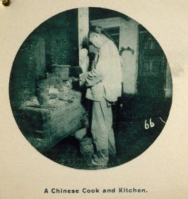 A Chinese Cook and Kitchen, in the album Chinatown, San Francisco