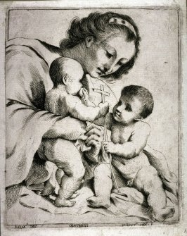Virgin and Child with St. John the Baptist, after Guercino