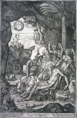 St. Anthony Abbot and the Body of St. Paul the Hermit Supported by Angels