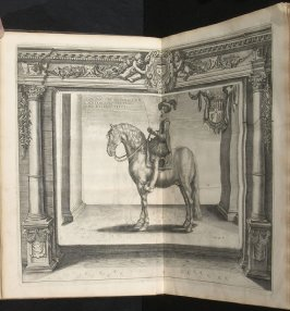 Illustration 8 in the book l'Instruction du Roy en l'exercice de monter à cheval (Paris: Michel Nivelle, 1625)