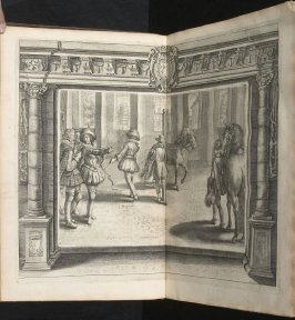 Illustration 9 in the book l'Instruction du Roy en l'exercice de monter à cheval (Paris: Michel Nivelle, 1625)
