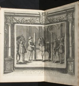 Illustration 11 in the book l'Instruction du Roy en l'exercice de monter à cheval (Paris: Michel Nivelle, 1625)