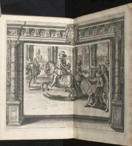 Illustration 12 in the book l'Instruction du Roy en l'exercice de monter à cheval (Paris: Michel Nivelle, 1625)