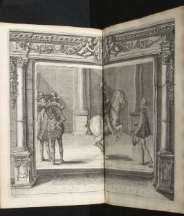 Illustration 34 in the book l'Instruction du Roy en l'exercice de monter à cheval (Paris: Michel Nivelle, 1625)