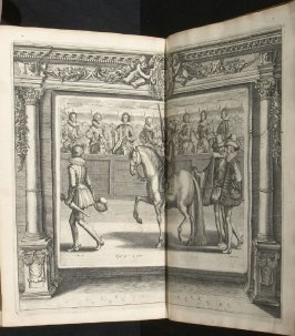 Illustration 44 in the book l'Instruction du Roy en l'exercice de monter à cheval (Paris: Michel Nivelle, 1625)