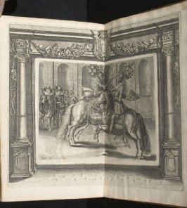 Illustration 61 in the book l'Instruction du Roy en l'exercice de monter à cheval (Paris: Michel Nivelle, 1625)