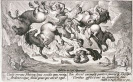 """Four engravings from """"The Metamorphoses of Ovid: No. 19 (Phaeton)"""