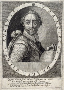 Franciscus Drake Miles Auratus, illustration from the 'Heroologia Anglica' (Arnhem, Crispijn de Passe, 1620)