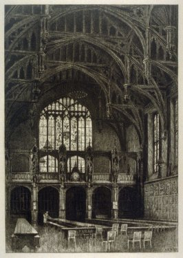 Interior of the Hall, Lincoln's Inn