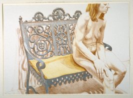 Girl on Iron Bench