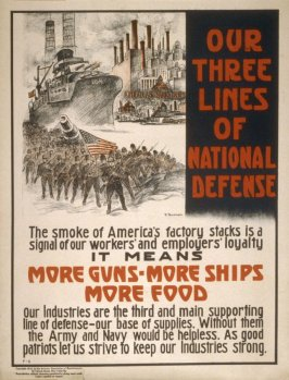 Our three lines of National defense - World War I Poster