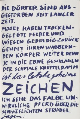 Untitled, page 23 in the book Lyrick by Sarah Kirsch (Berlin: Edition Malerbücher, 1988)