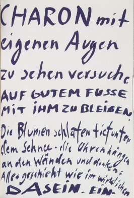 Untitled, page 67 in the book Lyrick by Sarah Kirsch (Berlin: Edition Malerbücher, 1988)