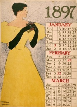 January, February, March from Poster Calendar 1897