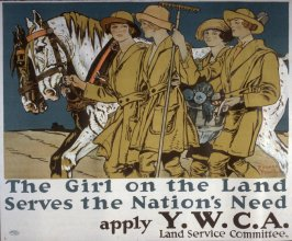 The Girl on the Land Serves the Nation's Need - World War I poster
