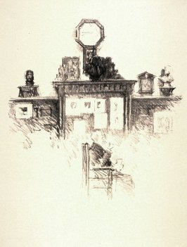 The Guild Clock, ninth plate from the portfolio Sketches Made on the Lithography Night 14 April 1905 by Members of the Art Workers Guild, Clifford Inn Hall and Published for the Benefit of the Chest