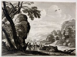Landscape With Men Playing Games