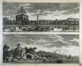 (Views of gardens and water features), from Suecia Antiqua et Hodierna (Ancient and Modern Sweden)