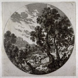 Landscape with road and people