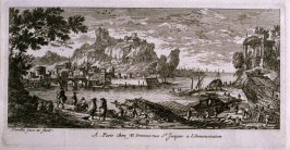 Harbor View, one from a series of eighteen views of chateaux, fortresses, and seaports