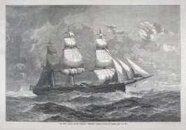 """The New United States Frigate """"Trenton"""" - from Harper's Weekly, (March 31, 1877), p. 244"""