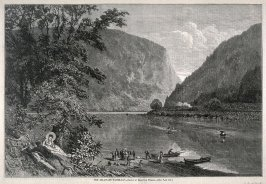 The Delaware Water-Gap - p.804 from Harper's Weekly (13 October 1877)