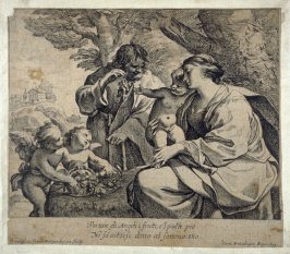 The Holy Family with a basket of grapes