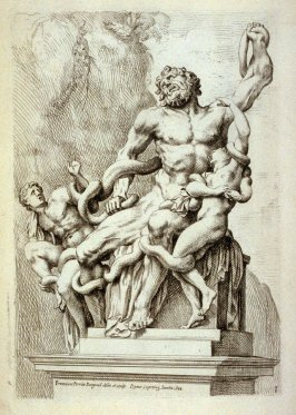 Laocoon marmoreus..., plate 1 in the book Antique Statues of Rome (Rome: François Perrier1638)