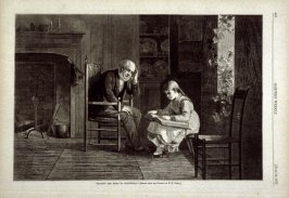 """Reading the Bible to Grandpapa"" - p.460 Harper's Weekly (16 June 1877)"