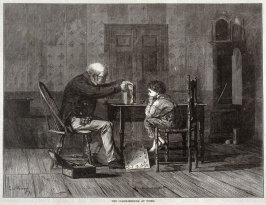 The Clock-Mender at Work - p.1004 from Harper's Weekly 8 November 1873