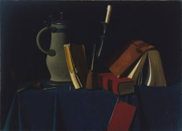 Still Life with Pitcher, Candle, and Books