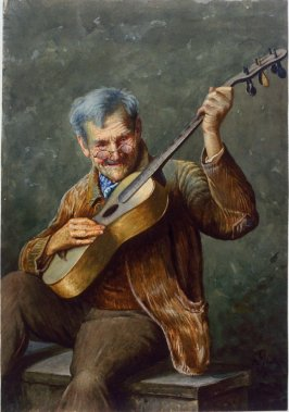 Untitled (Old Man Playing Guitar)